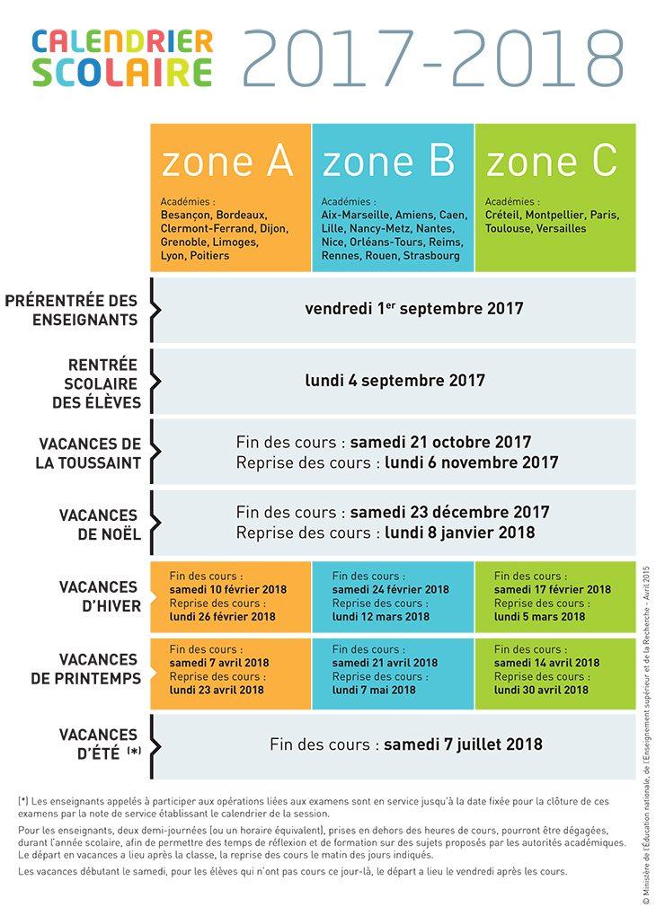 Vacances 2017 2018