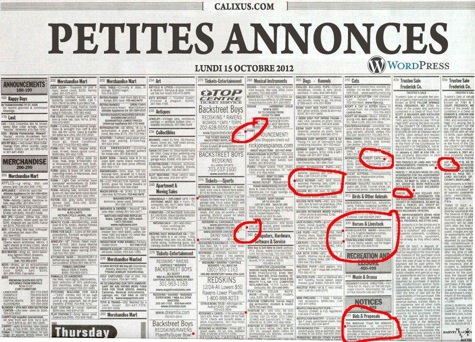 Petites annonces à Péguy