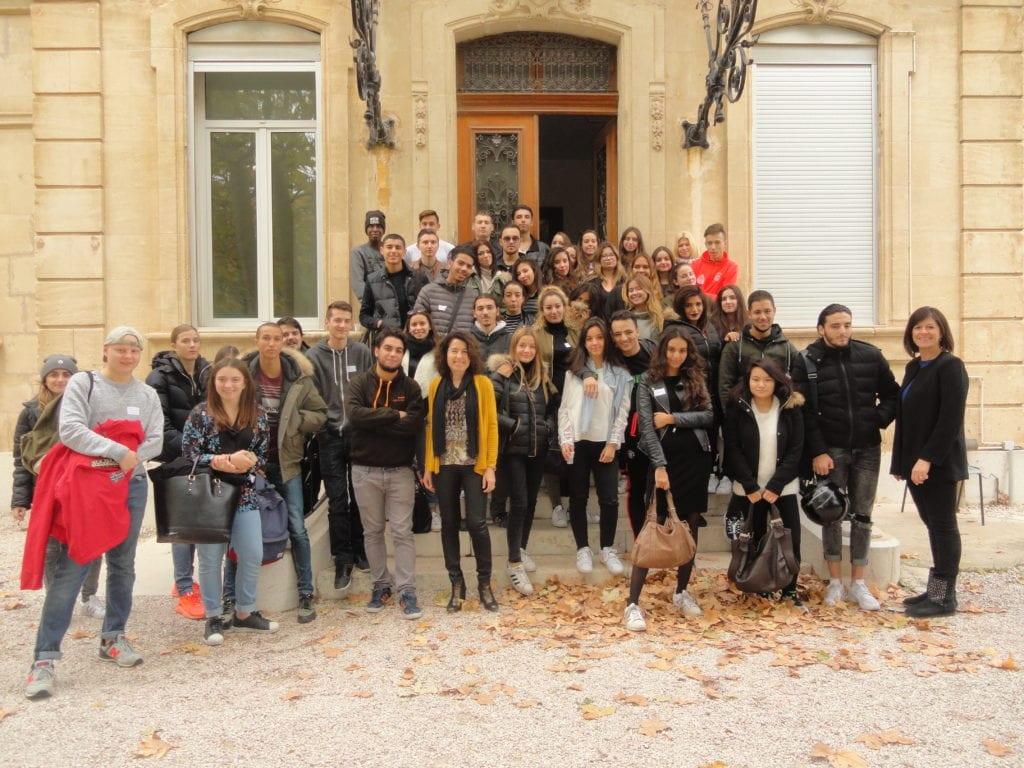 Les délégués du Lycée Charles Péguy à Campagne Pastré (Marseille)