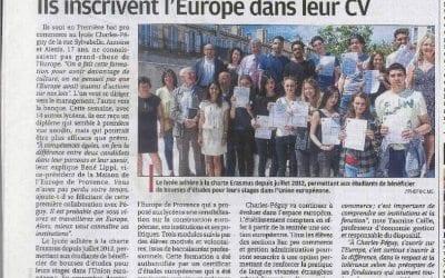 Un article sur la Certification européenne à Charles Péguy