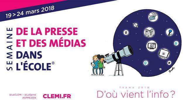 Logo semaine de la presse à l'école