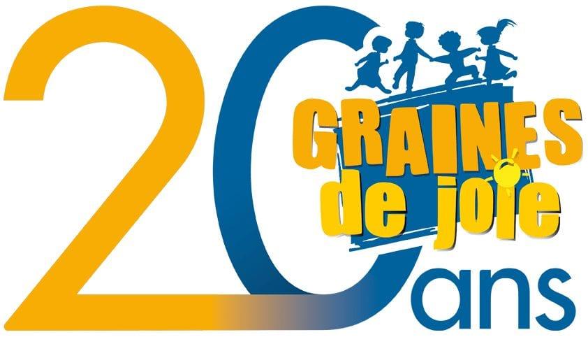 logo des 20 ans association graines de joie