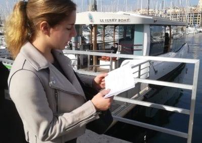 Guidage devant le célébre Ferry Boat