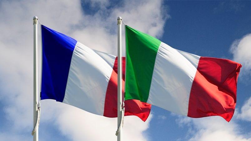 Drapeaux Franco italien