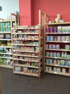 Photo de rayonnage de magasin et ses produits