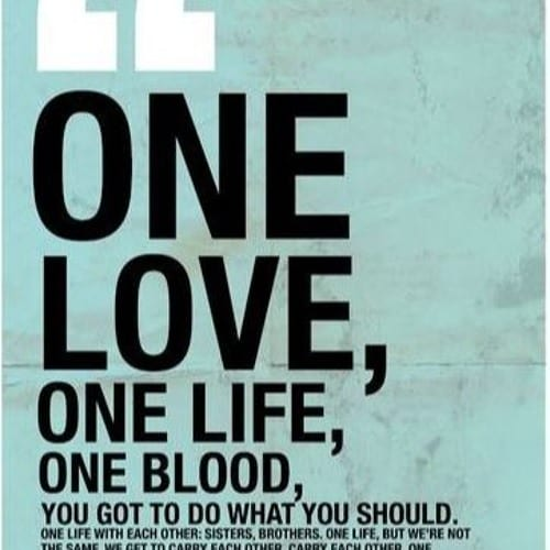 Affiche ONE de U2