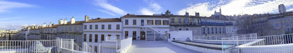 Vue panoramique du Lycée Charles Péguy à Marseille