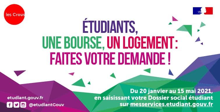 Affiche pour l'aide sociale aux étudiants