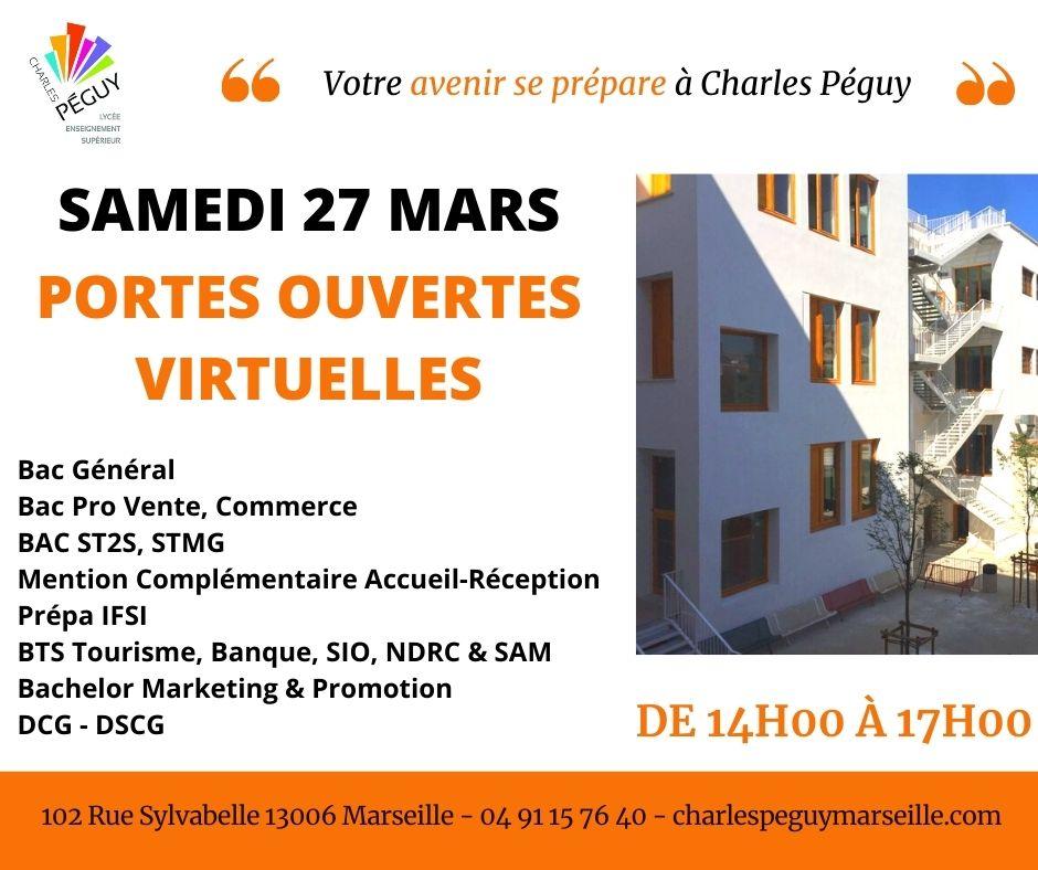 Portes ouvertes à Charles Péguy le 27 mars 2021