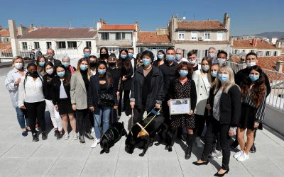 Les étudiants de BTS SAM et les Chiens guides d'aveugles