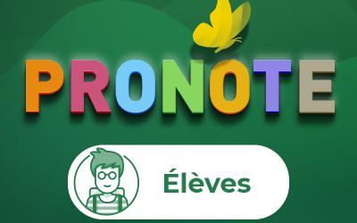 Le Pronote nouveau est arrivé !